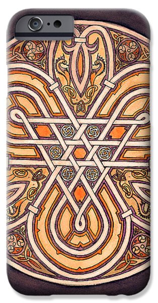 Serpent iPhone Cases - Celtic Piece iPhone Case by Thacia Langham