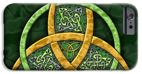 Celtic Knotwork iPhone Cases - Celtic Trinity Knot iPhone Case by Kristen Fox