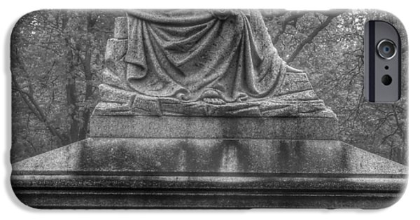Cemetary iPhone Cases - Cemetery Statue 1 iPhone Case by Matthew McClain