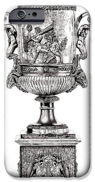European Sculptures iPhone Cases - Centaur Urn _ V1 iPhone Case by Bruce Algra