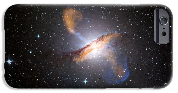 Jet Star iPhone Cases - Centaurus A Black Hole iPhone Case by Nasa