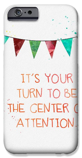 Retirement iPhone Cases - Center of Attention- card iPhone Case by Linda Woods