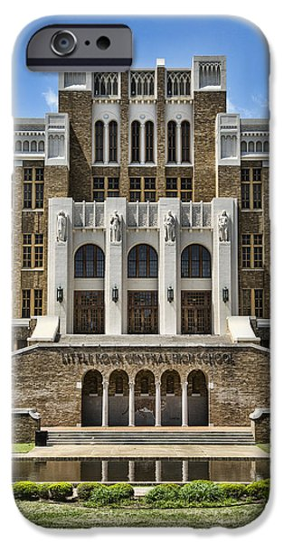 Arkansas iPhone Cases - Central High School - Little Rock iPhone Case by Stephen Stookey