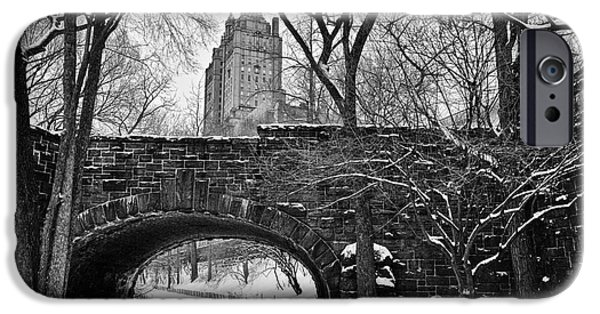 Cold iPhone Cases - Central Park and the San Remo Building iPhone Case by John Farnan