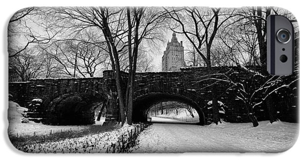 Cold iPhone Cases - Central Park West and the San Remo Building  iPhone Case by John Farnan