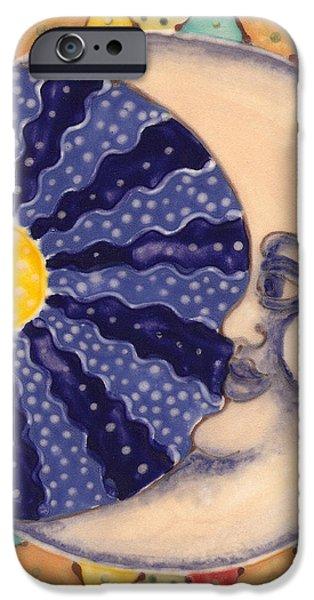 Ceramic Moon iPhone Case by Anna Skaradzinska