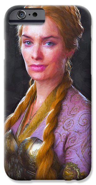 Celebrities Art iPhone Cases - Cersei Lannister II - Game Of Thrones iPhone Case by Nikola Durdevic