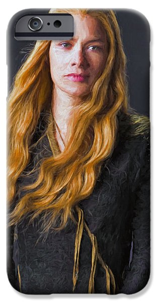Celebrities Art iPhone Cases - Cersei Lannister III - Game Of Thrones iPhone Case by Nikola Durdevic