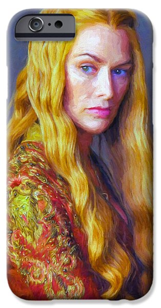 Celebrities Art iPhone Cases - Cersei Lannister IV - Game Of Thrones iPhone Case by Nikola Durdevic