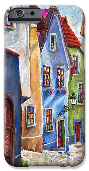Realism iPhone Cases - Cesky Krumlov Old Street iPhone Case by Yuriy  Shevchuk