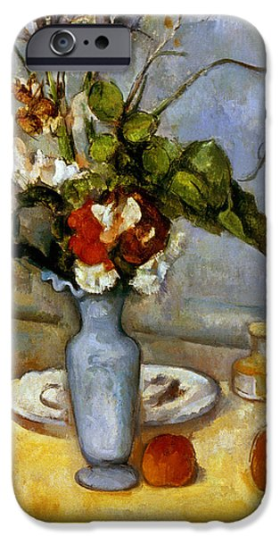 19th Century iPhone Cases - Cezanne: Blue Vase, 1885-87 iPhone Case by Granger