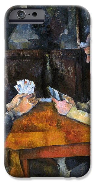 CEZANNE: CARD PLAYER, c1892 iPhone Case by Granger