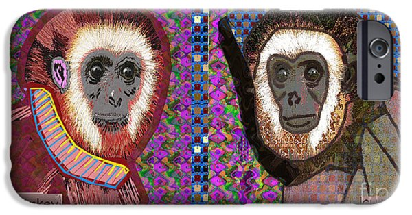 Christmas Greeting iPhone Cases - CHA CHA and BA BA Monkey from the City by NavinJoshi at FineArtAmerica  iPhone Case by Navin Joshi