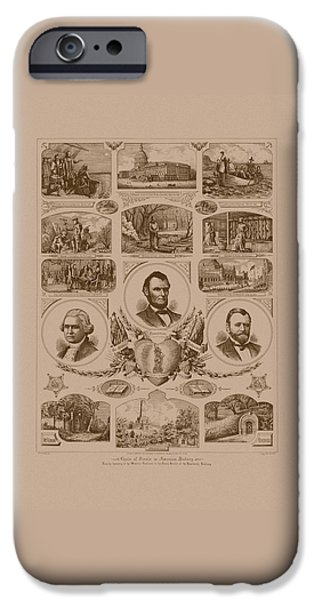 President iPhone Cases - Chain of events in American History iPhone Case by War Is Hell Store