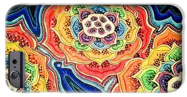 Buddhism Pastels iPhone Cases - Chakra Lilly iPhone Case by Jessica Ritenour