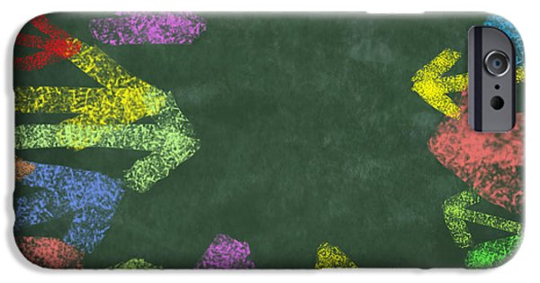 Arrow iPhone Cases - Chalk Drawing Colorful Arrows iPhone Case by Setsiri Silapasuwanchai