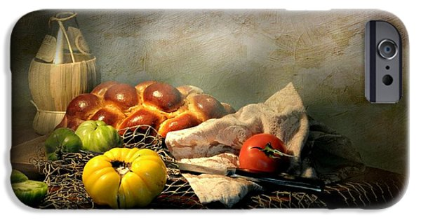 Table Wine iPhone Cases - Challah Bread iPhone Case by Diana Angstadt