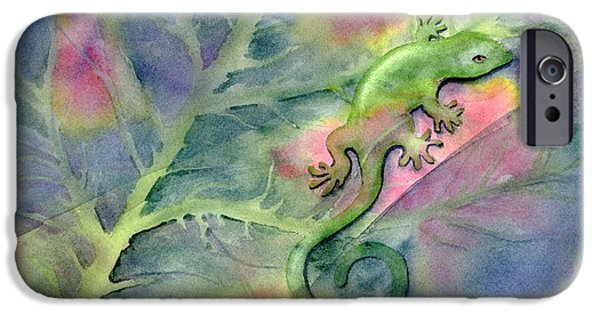 Chameleon iPhone Cases - Chameleon iPhone Case by Amy Kirkpatrick