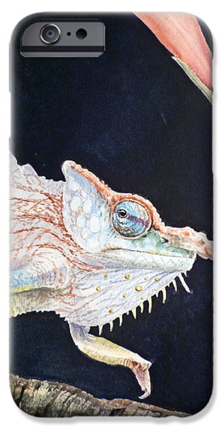 Chameleon iPhone Cases - Chameleon iPhone Case by Irina Sztukowski
