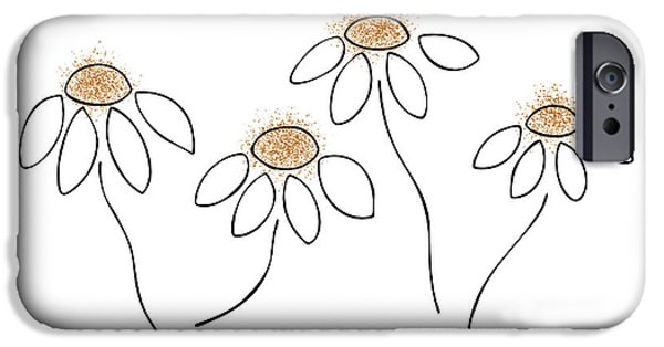 Flowers Drawings iPhone Cases - Chamomile iPhone Case by Frank Tschakert
