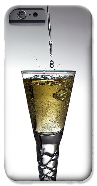 Wine Pour iPhone Cases - Champagne iPhone Case by Gert Lavsen