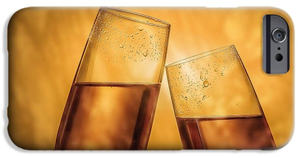 Wine Sipping iPhone Cases - Champagne Toast iPhone Case by Tom Mc Nemar