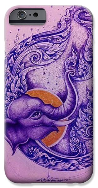 Elephants iPhone Cases - Chang thai  iPhone Case by Piman Wongsangnoi