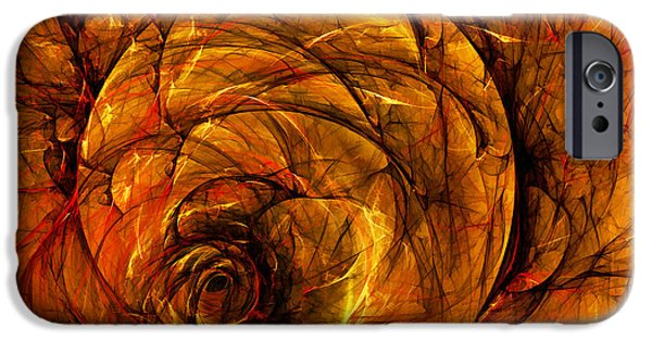 Warm Digital Art iPhone Cases - Chaos iPhone Case by Scott Norris