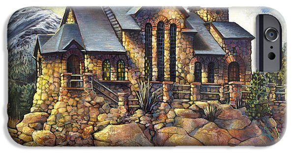 Chapel On The Rock iPhone Cases - Chapel on the Rock After the Flood iPhone Case by Alisha Lee Jeffers