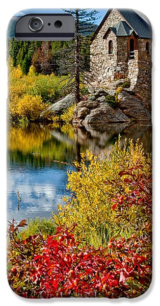 Chapel on the Rock Fall iPhone Case by Jennifer Grover