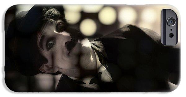 Chaplin iPhone Cases - Chaplin iPhone Case by Damian Morphou