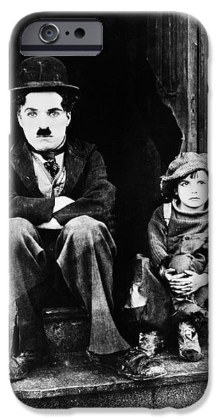 Chaplin iPhone Cases - Chaplin: The Kid, 1921 iPhone Case by Granger