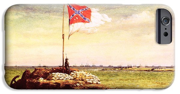 Confederate Flag iPhone Cases - Chapman: Fort Sumter Flag iPhone Case by Granger