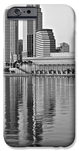 Buildings iPhone Cases - Charcoal Tampa iPhone Case by Frozen in Time Fine Art Photography