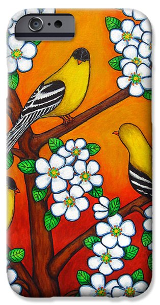 Chardonnay Sunset iPhone Case by Lisa  Lorenz