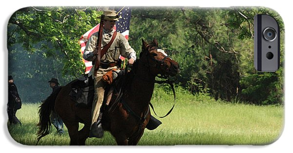 Civil War Re-enactment iPhone Cases - Charging Through iPhone Case by Kim Henderson