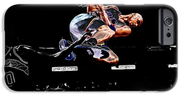 Shawn Kemp iPhone Cases - Charles Barkley Hanging Around II iPhone Case by Brian Reaves
