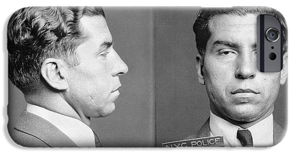 Crime iPhone Cases - Charles Lucky Luciano iPhone Case by Granger