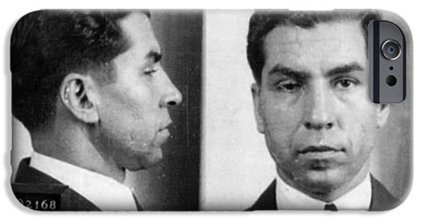 Police iPhone Cases - Charles Lucky Luciano Mug Shot 1931 Horizontal iPhone Case by Tony Rubino