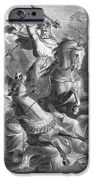 Knighthood iPhone Cases - Charles Martel, Battle Of Tours, 732 iPhone Case by Photo Researchers