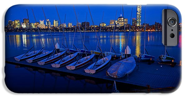 Boston Ma Digital iPhone Cases - Charles River Boats iPhone Case by Toby McGuire