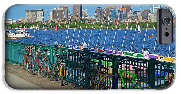 Charles River iPhone Cases - Charles River Colorful Bikes and Boats iPhone Case by Toby McGuire