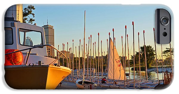Boston Ma iPhone Cases - Charles River Community Boathouse Boats iPhone Case by Toby McGuire