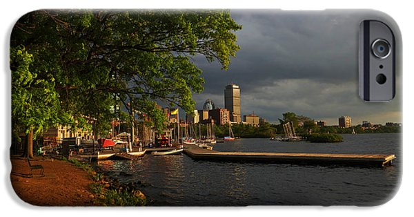 Charles River Digital Art iPhone Cases - Charles River Community Boating Boat House Boston iPhone Case by Toby McGuire