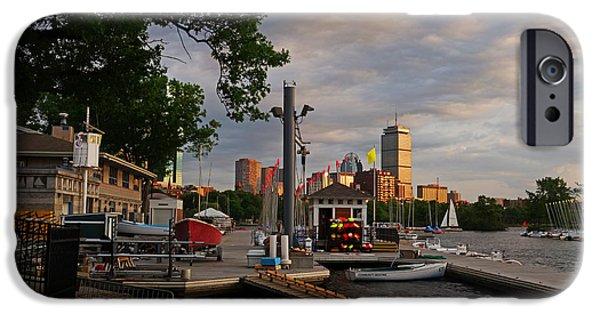 Charles River Digital Art iPhone Cases - Charles River Community Boating Boat House iPhone Case by Toby McGuire