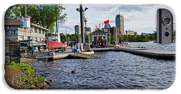 Boston Ma iPhone Cases - Charles River Community Boating Skyline iPhone Case by Toby McGuire