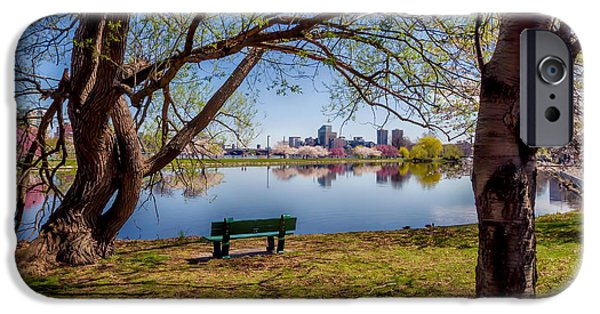 Boston Ma iPhone Cases - Charles River Reservation iPhone Case by Larry  Richardson