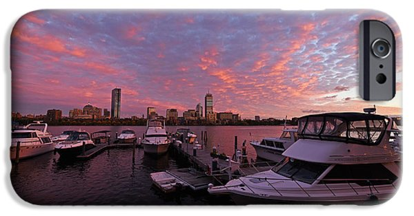 Boston Ma iPhone Cases - Charles River Sunset Boston MA iPhone Case by Toby McGuire