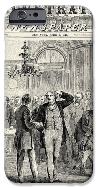 D.c. iPhone Cases - Charles Sumner (1811-1874) iPhone Case by Granger