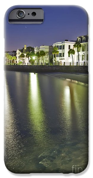 Mansion iPhone Cases - Charleston Battery Row At Dawn iPhone Case by Dustin K Ryan
